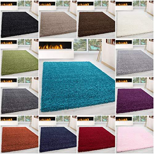 Ayyildiz Wunderschöne Ökotex Life Shaggy Teppich Hochflor Intensive Farbbrillanz Model 1, Farbe:Terra, Größe:240 x 340 cm