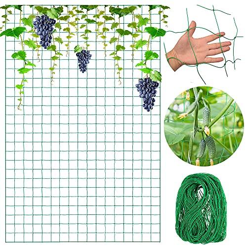 O-Kinee Filet à Plantes Grimpantes, Filet à Ramer avec Maillage Large, Filet de Treillis, pour Récolte de Concombres, Légume, Vignes, Plantes Grimpantes (1.8 x 2.7m)