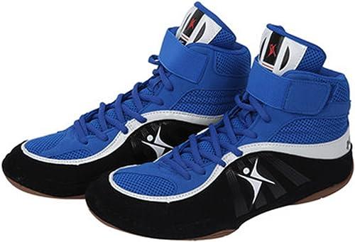 Chaussures de Lutte Boxe Bottes Semelle en Caoutchouc Combat Formation Sport paniers pour Hommes Femmes Enfants Enfants Adolescents