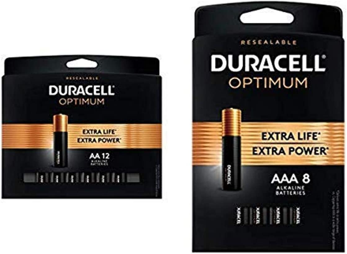 Duracell Optimum AA 12 Overseas parallel import regular item count + Free shipping Batteries Last Long 8 AAA