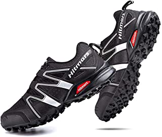 Zapatillas Trail Running Hombre Mujer Impermeables Zapatos Trekking Ligero Botas Senderismo Bajos Multideporte A Negro-Bla...