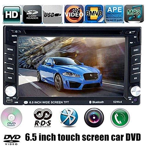 Boomboost 6.5 '' écran Tactile Bluetooth 2 Voiture DIN FM/AM Radio SD/USB/EQ/TV/AV in Lecteur DVD