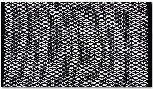 Pro Home Teppich Läufer Matte Unterlage Vorleger Fußabtreter, breite Auswahl an modernen Fleckerl- und Baumwollteppiche (50x80 cm/Hash)