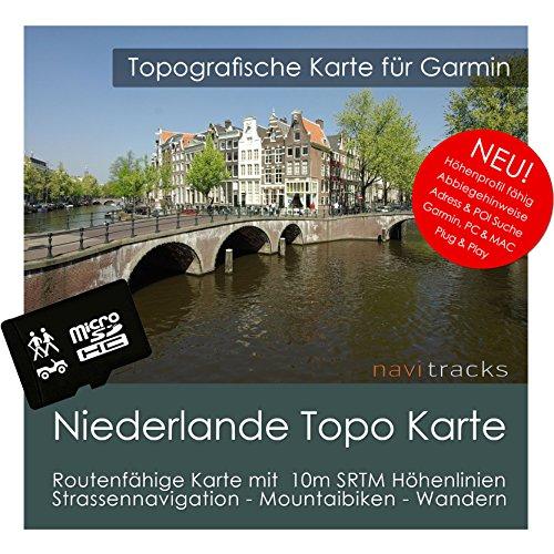 Países Bajos Garmin Tarjeta Topo 4GB MicroSD. Mapa Topográfico de GPS Tiempo...