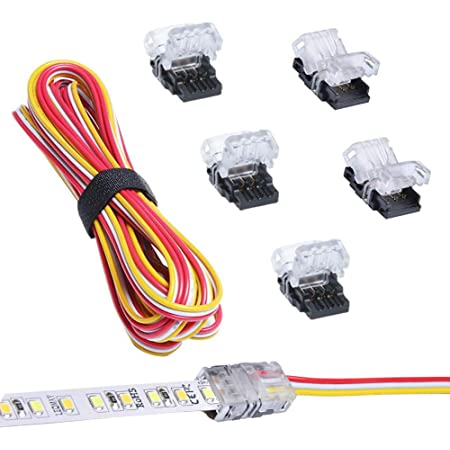 RGBZONE 20Pairs JST SM 3PIN Plug Male to Female 15cm EL Wire Cable Connector Adapter for WS2811 WS2812B SK6812 Dream Color LED Strip Light