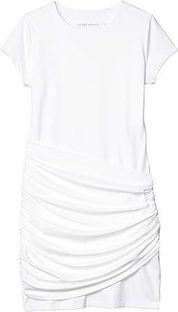 Short Sleeve Gathered Overlay Dress