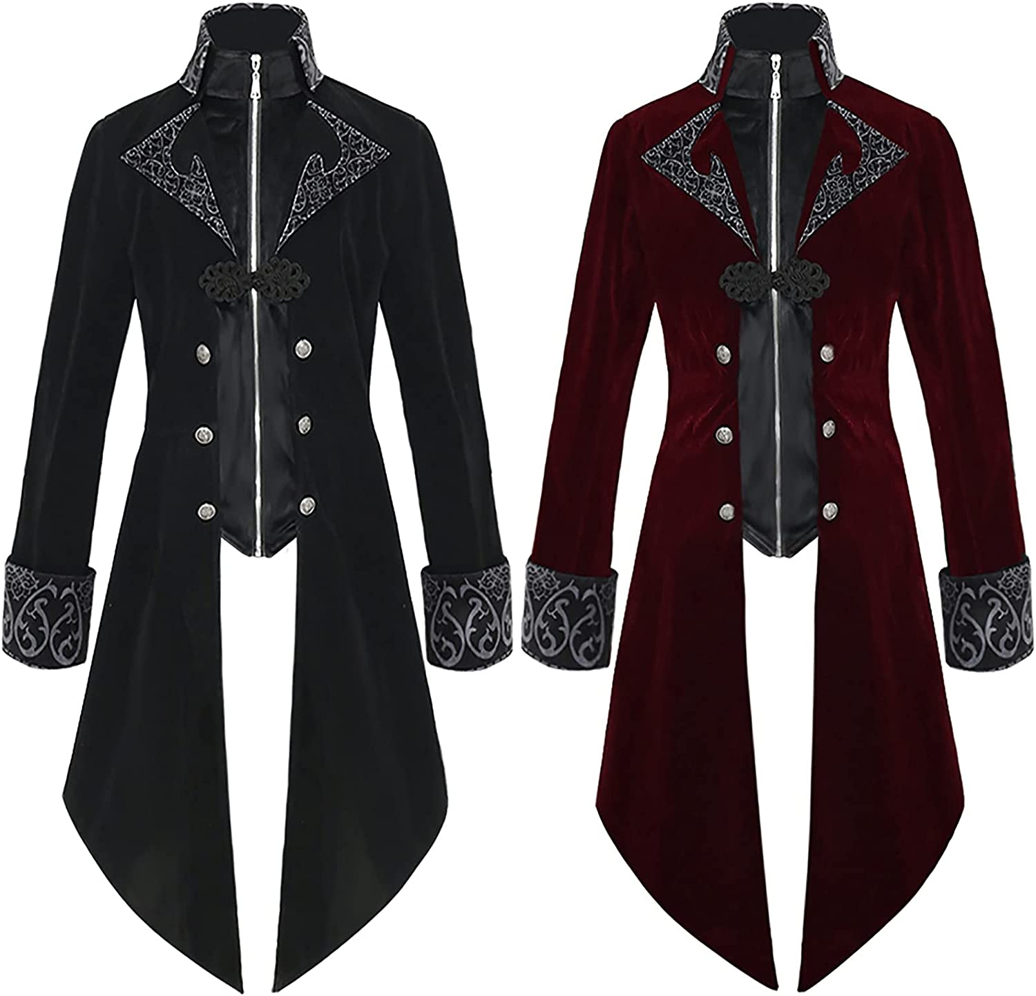 free shipping Medieval Steampunk supreme Tailcoat Halloween Men for Renaissa Costumes