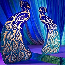 Peacock Masquerade Mardi Gras Party Props Standup Photo Booth Prop Background Backdrop Party Decoration Decor Scene Setter Cardboard Cutout