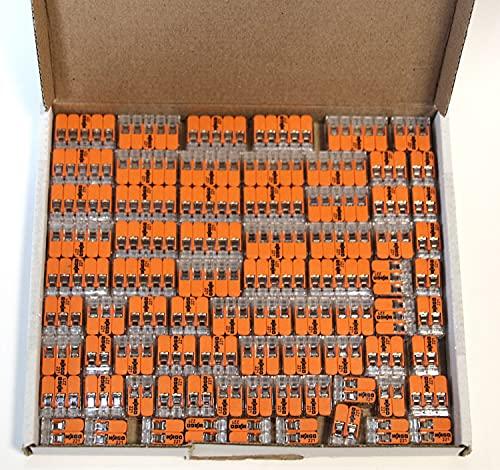Wago 221 Klemmen SET 25x 221-412, 221-413, 221-415 | Kabel Verbinder in einem wiederverschließbaren Karton - Original WAGO