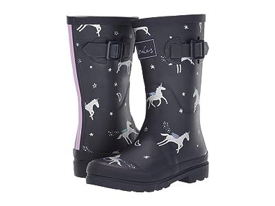 Joules Kids Printed Welly Rain Boot (Toddler/Little Kid/Big Kid) (Navy Unicorns) Girls Shoes