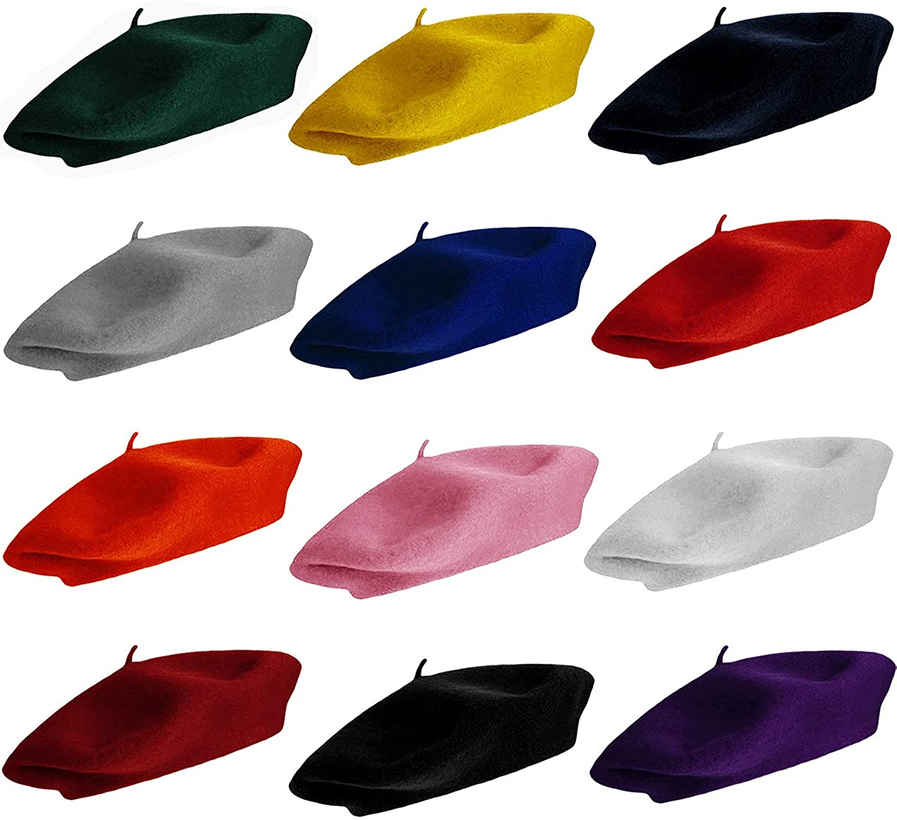 Wool Berets for Adults - French Beret - Artist Hat - Pack by CoverYourHair