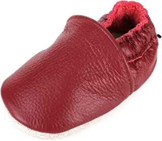 Anrentiy Soft Sole Leather Baby Girls Boys Dress Shoes Crawling Slippers First Walking Moccasins