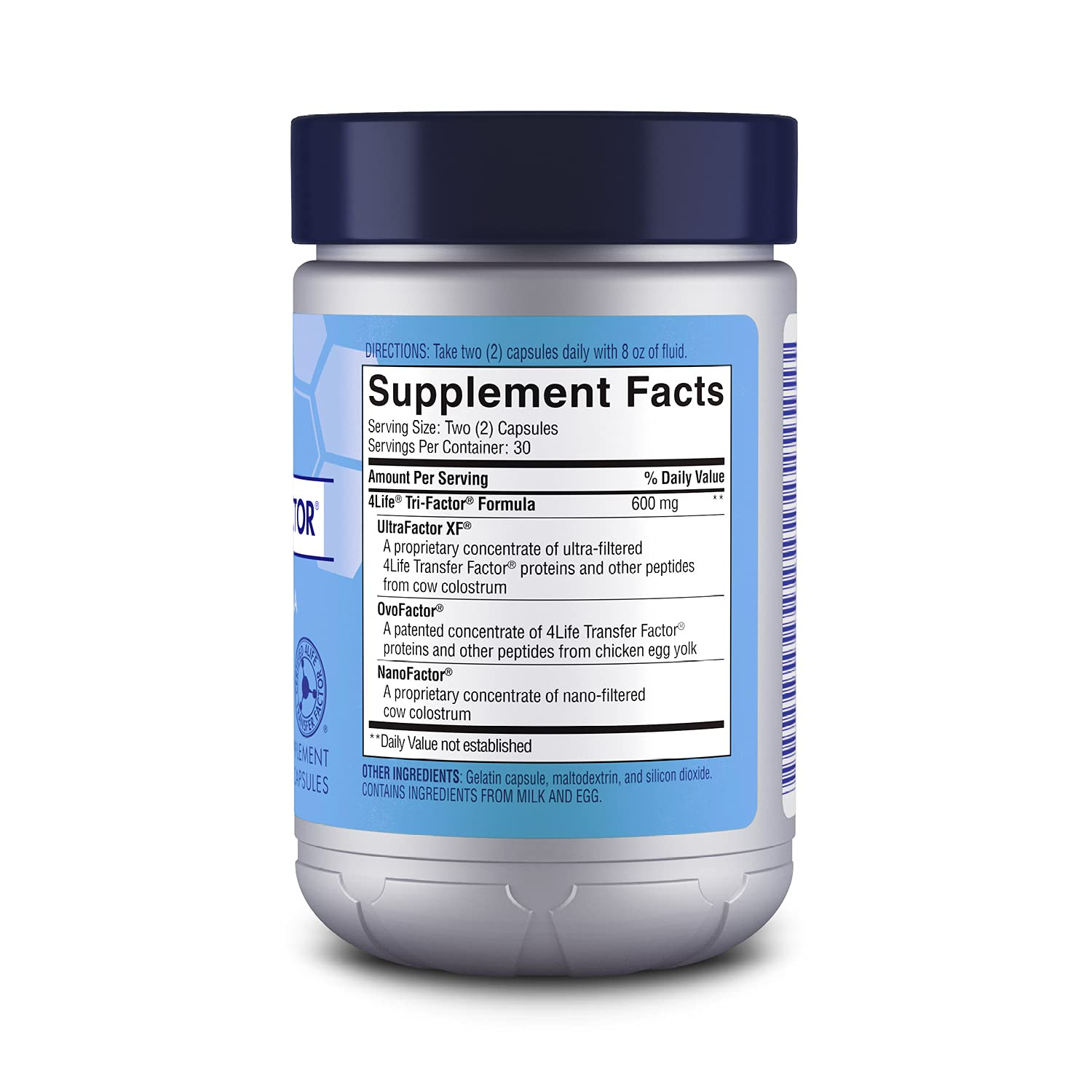 4Life Transfer Factor Tri-Factor Formula - Immune System Support with Extracts of Cow Colostrum and Chicken Egg Yolk - 60 Capsules