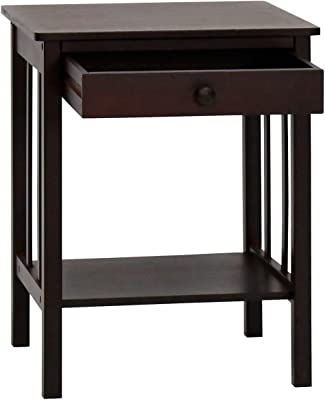 narrow chairside table with drawers migueldhdez armpro bamboo night stand end table with drawer and storage shelf retro style multi amazoncom modhaus living country narrow nightstand rectangle