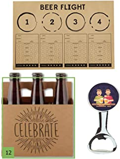 ElevenPlus2 Beer Flight Party Pack: Includes Beer Tasting Placemats, Celebrate Beer Carriers and Beer Buddies Bottle Opener