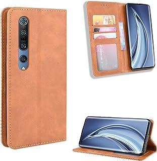LODROC Xiaomi Mi 10 Lite/Lite Zoom Case, TPU Leather Case Magnetische Case [Kaartenvak ] [Stand Functie ], Schokbestendige...
