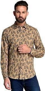 ID Men Beige Slim Fit Shirt
