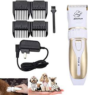 Professional Pet Grooming Clippers,Rechargeable Cordless Pet Hair Clipper for Small Medium Large Dogs Cats and Other Anima...