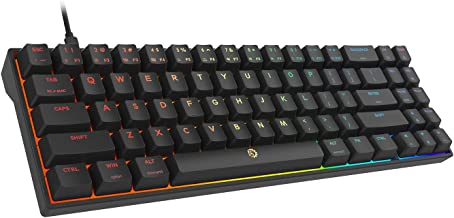 DREVO Calibur V2 RGB 60% Wired Mechanical Gaming Keyboard, 71-Key Small Compact, Compatible with PC/Mac, Detachable USB Ty...