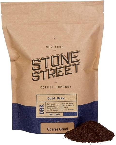 Stone Street Coffee Cold Brew Reserve Colombian Single Origin Coarsely Ground Coffee 1 Lb Bag Dark Roast
