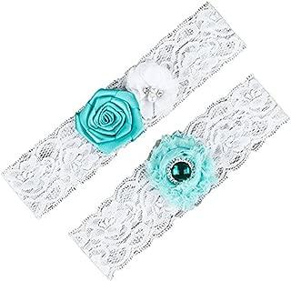 MLQM Women's Wedding Garter Belt 2 Pcs Set Lace Vintage Prom Bridal Garters