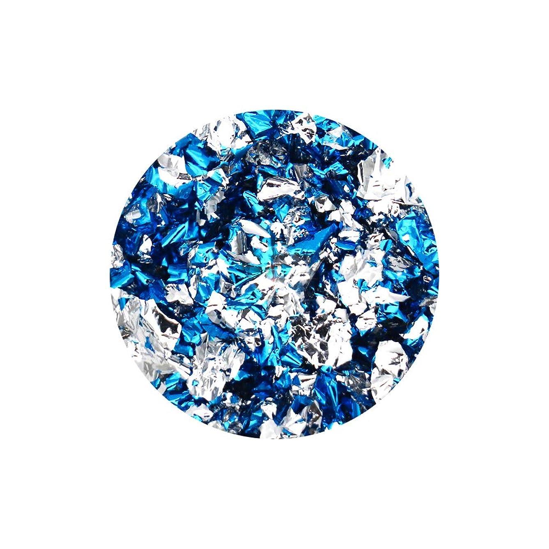 エピソードリスナーカロリーネイルアート リバーシブルホイル ブルー×シルバー セルフネイル レジン ネイルホイル リバーシブル 両面 ネイルナゲット