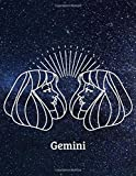 Gemini: Zodiac Signs Gift, Horoscope, Journal, Notebook, Diary, Pad, Daybook, Textbook, Handbook, Workbook, Dailybook, Album, Essay, Note (110 pages, Hand Writing, 8.5' x 11' in)