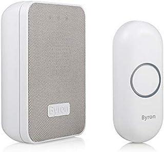 Byron DBY-22321 Draadloze deurbelset, 16 melodieën en tot 150 m bereik, tot 6 belletjes aansluitbaar, 5 niveaus volume, be...