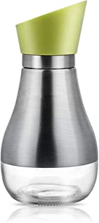 Ronzer Olive Oil Dispenser Bottle 14 Oz Capacity - 304 Stainless Steel Unidirectional Rotary Cover the Glass Oil Bottle - Twist the Cap to Pour Out the Oil/Soy Sauce and Vinegar - Prevent Drip