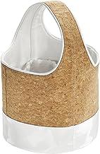 حقيبة تخزين كوين من انترديزاين لادوات الاستحمام او الاستخدام في السكن الجامعي او على الشاطئ، لون البلوط/ابيض، 3 قطع