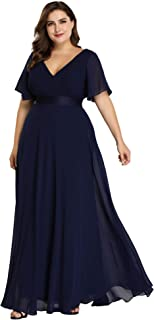 Ever-Pretty Women's Plus Size Double V-Neck Evening Party...