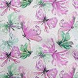 oneOone Punto De Viscosa Rosa Fucsia Tela Nombre Corona Personalizada De La Mariposa Tela De Costura Por El Medidor Impreso Suministros De Costura De Ropa De Bricolaje 60 Pulgada De Ancho