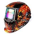 DEKOPRO Welding Helmet Solar Powered Auto Darkening Hood with Adjustable Shade Range 4/9-13 for Mig Tig Arc Welder Mask