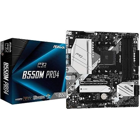 ASRock AMD Ryzen 5000シリーズ(Soket AM4)対応 B550チップセット搭載 Micro ATX マザーボード 【国内正規代理店品】B550M Pro4