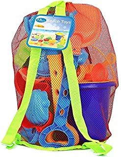 Click N' Play 18Piece Beach Sand Toy Set, Bucket, Shovels, Rakes, Watering Can, Molds