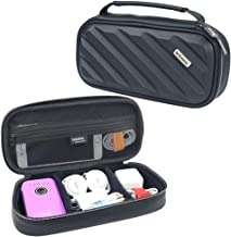 Iksnail Electronics Organizer Travel Bag, Double Layer Hard Gadget Accessories Storage Carrying Pouch for USB Cable, SD Card, USB Drive, Hard Drive, Phone, Charger, Earphone (Large)
