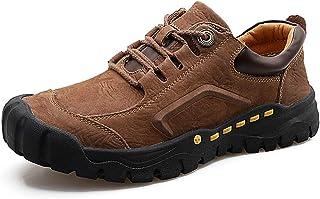 [SENNIAN] 登山靴ハイキング シューズブラックレースアップシンプル ジョギング滑り止め スニーカー合皮 カジュアル ランニング 柔らか安定感 レッキング防臭 耐磨耗 クッション性 通勤 アウトドア 快適