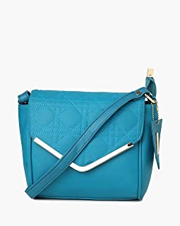 Nelle Harper PU Leather Latest Fashion Handbags for Women's (Aqua)