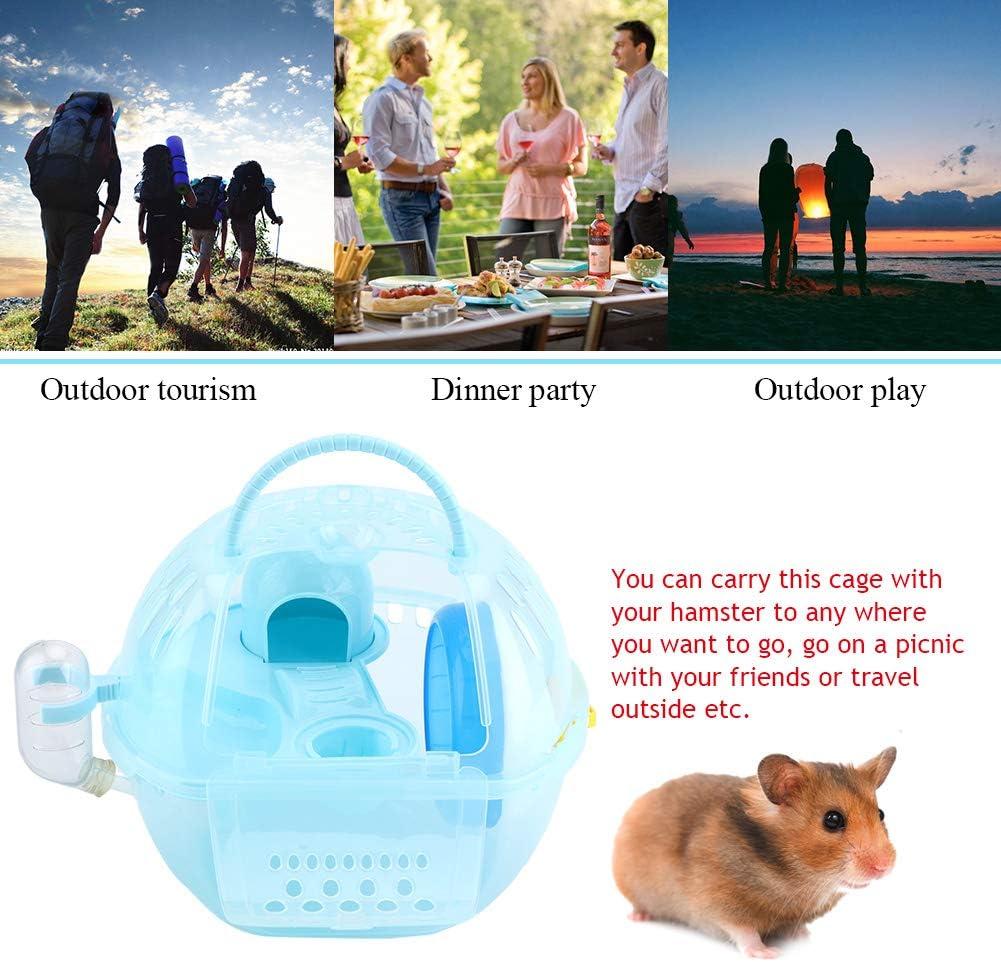 Felenny Casa de H/ámster Pl/ástico Transparente Casa de Chinchilla Jaula para Mascotas Port/átil Accesorios Totalmente Equipados Adecuados para Ratas Jerbo Otras Mascotas Animales Peque/ños