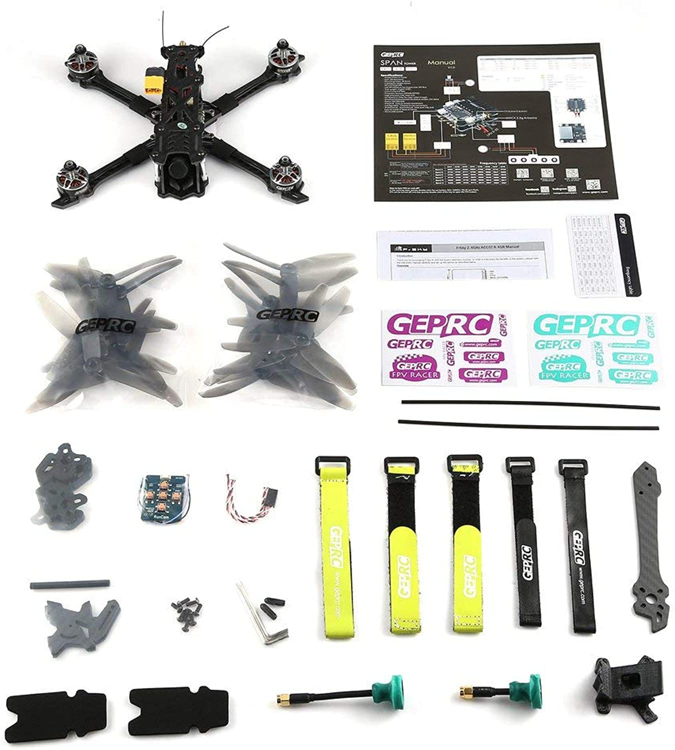GreatWall GEPRC Mark2 FPV Brushless RC Racing Drohnenkamera Voll 3K Carbon BNF PAL Silber
