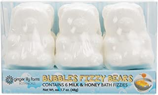 Ginger Lily Farms Botanicals Bubbles Fizzy Bears Milk & Honey, for Kids, 1.7 Ounces Each, 6-Count