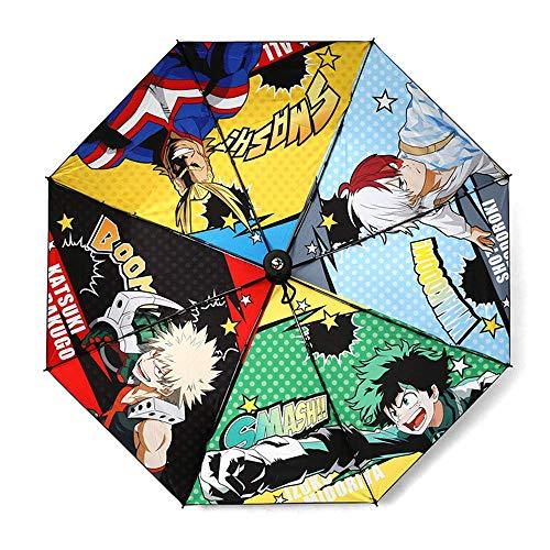 Mattheo Klug My Hero Academia 3 Folding Umbrellas 3D Print Pattern Cosplay Accessories