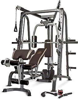Marcy MD-9010G - Máquina de gimnasia (máquina Smith, banco de pesas extraíble, carga de 272 Kg, rodamiento lineal)
