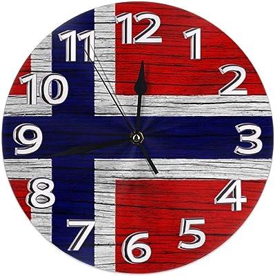 Kncsru Textura de Madera Bandera Armenia Reloj de Pared Redondo ...