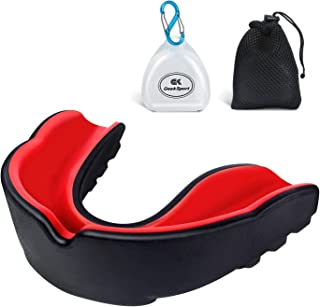 GeekSport Football Mouth Guard Sports, Mouthguard for UFC, Boxing, Lacrosse, Ice Hockey, etc, Youth & Adult Sizes, Free Case & Mesh Bag