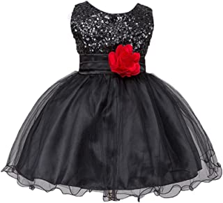 abb8348f4bd6 Gotd Infant Toddler Baby Girl Sequins Sleeveless Tutu Princess Dress  Clothes Winter Outfits Christmas Holiday (
