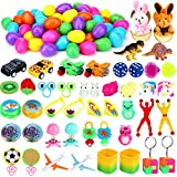Sizonjoy 50 Filled Easter Eggs with Toys,Prefilled Plastic Surprise Eggs with Different Kinds of Popular Toys.for Kids Easter Egg Hunt Party Favors