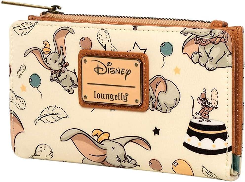 Loungefly Disney Dumbo Faux Arlington Mall Flap Wallet Leather Super intense SALE