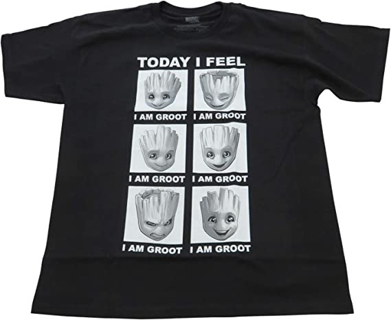 CafePress GOTG Baby I Am Groot Grunge Mens Hooded Shirt 93584042