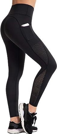 UURUN High Waist Yoga Pants Capri Workout Running Leggings with Pockets - Non-See-Through Fabric